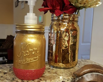 Glitter Jar soap dispenser,Home decor