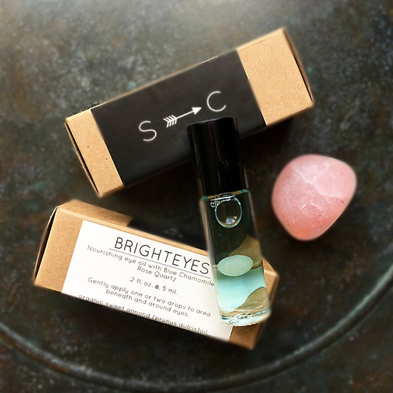 Bright Eyes- nourishing eye oil with Blue Chamomile and Rose Quartz