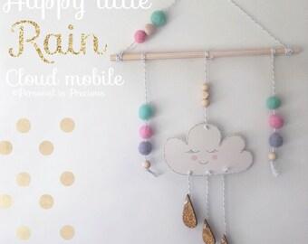 Happy little rain cloud mobile