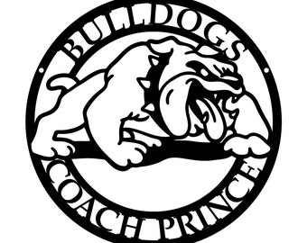 Bulldogs Athletic Coaching Metal Plaque - CAN BE CUSTOMIZED