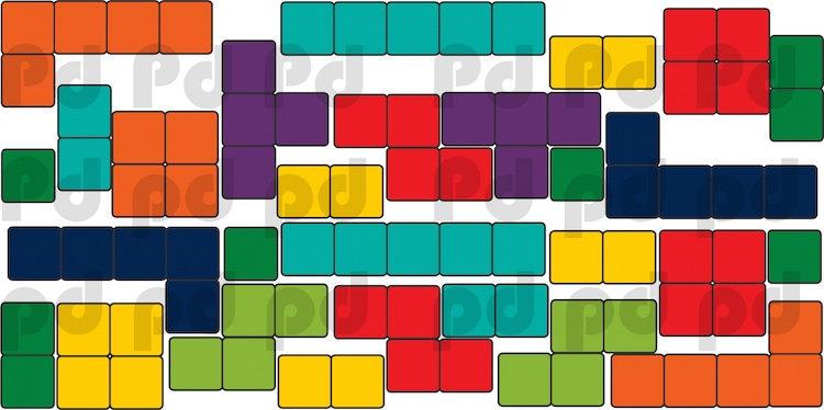 Tetris Wall Decal Design Kids Video Game Bedroom Wall Sticker Designs,  Tetris Wall Murals, Video Game Wall ...
