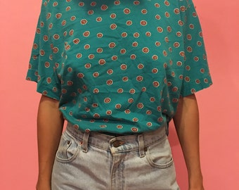 """80s Patterned """"Forenza"""" 100% Cotton Tee"""
