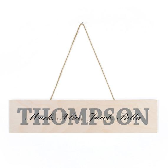 Targhe in legno personalizzati famiglia strati for Targhe decorative in legno
