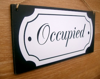 Etsy your place to buy and sell all things handmade for Bathroom occupied sign