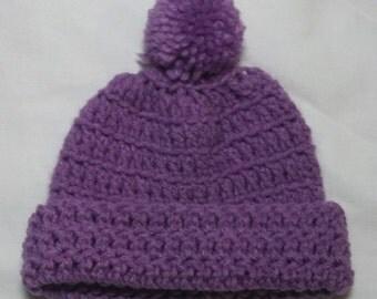Hand Crochet Cotton hat with Pom Pom