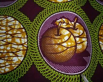 1/2 Yard Cut - African Wax Print - Apples