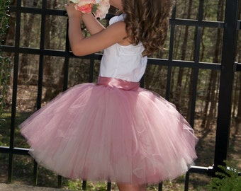 SEWN Tulle skirt, flower girl tutu,Soft Tulle tutu, Flower Girls tutu CUSTOM sewn tutus