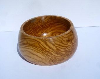 Zebrano Bowl, beautiful figured grain, wedding gift, present