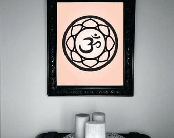 Pink Om Digital Art, Graphic, Quote, Wall Art, Print, Printable, PDF, JPG