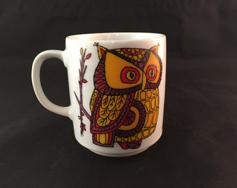 Vintage Owl Mug - Made in Japan