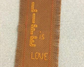 Cross stitch book mark