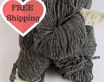 Yarn Lot Grey Worsted Weight Yarn, 80/20 Wool/Nylon Blend Yarn, 215yds per Hank, Yarn Destash, Yarn Balls, Yarn Sale, Yarn Worsted Weight