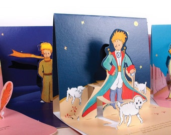 The little prince,  Le Petit Prince Navy Popup Card