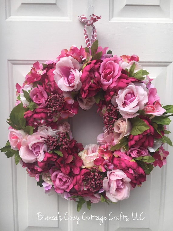 Spring Wreath Pink Peony Wreath Floral Summer Wreath Floral