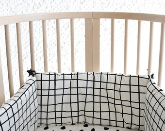 Bumper for Baby Crib – Baby Cot – Bedding – Baby bed – Scandinavian style – Black&White