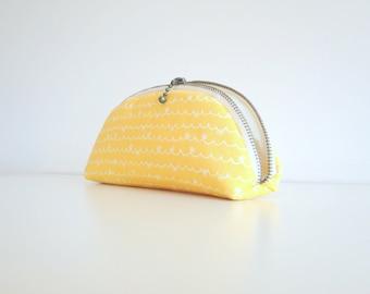 Lemon Orange Zippered Pencil Case