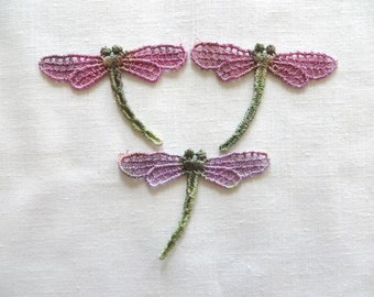 Dragonfly Applique Hand-dyed Venise Lace 6021D