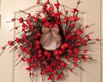 Simple Red Flower Wreath
