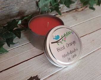 Blood Orange Soy Candle - tin.