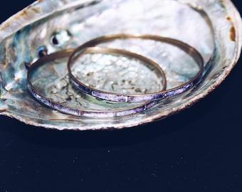 Vintage Purple Shell Bangle