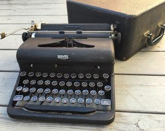 Aristocrat Royal Typewriter, 1938, With Glass Keys