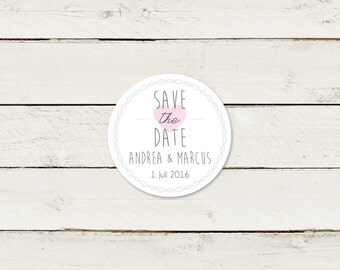 Save the date   Magnet   Round   No 1