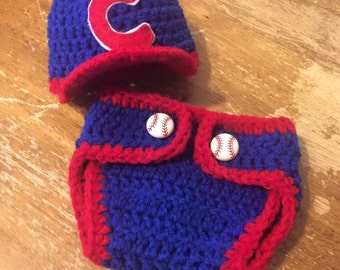 Crocheted Baseball Outfit/Photo Prop