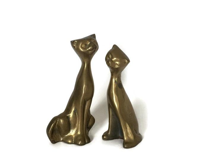 Vintage Brass Cat Figurine - Great Cat Lover Gift