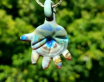 Glass hand pendant
