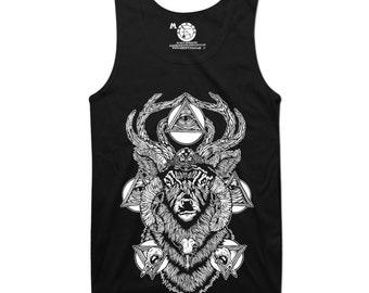 Deer, wiccan, pagan, occult tank top