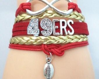 49ers Infinity Charm Bracelet
