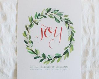 Joy is the True Gift of Christmas 8x10 print