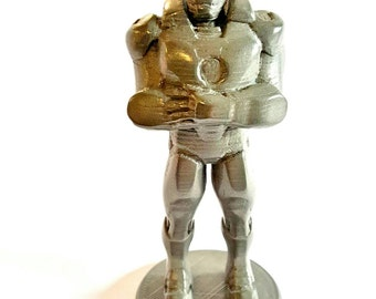 Ironman synthetic stainless steel 3d print sculpture