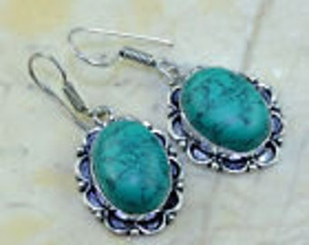 """Turquoise  and silver earrings 2"""""""