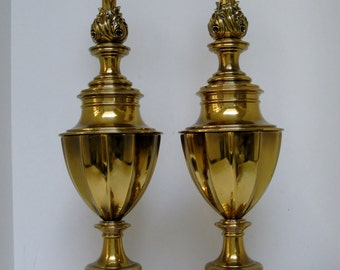 Stiffel Urn-Shaped Lamps, Pair