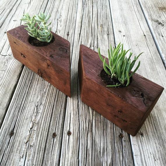 Items similar to succulent planter cactus planter for Wooden cactus planter