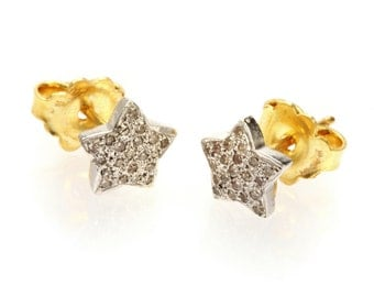 "Earrings ""White Star"""