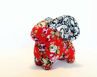 Handmade plush animal, floral stuffed animal, Aries ram, baby stuffed toy, baby room decor