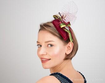 Burgundy Teardrop Hat