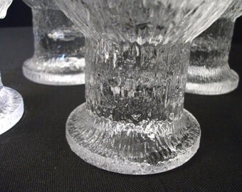 Iittala Kekkerit Glasses - set of 2 - Crystal Glasses - Finland - Timo Sarpaneva - 1970