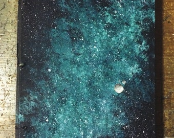 Hand-bound Blank Journal: Clear View at Midnight