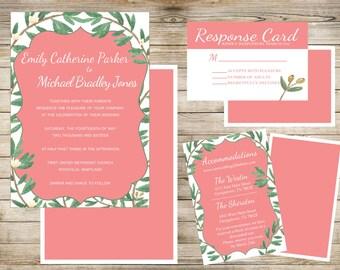 Olive Branch Wedding Invitation
