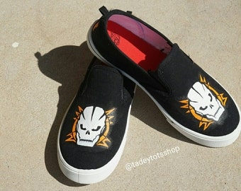 Custom hand painted - Call Of Duty Black ops III Slip on shoes