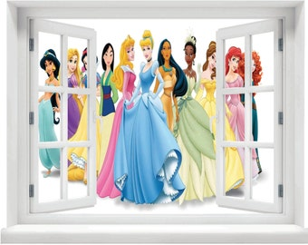 Window with a View Disney Princess Wall Mural