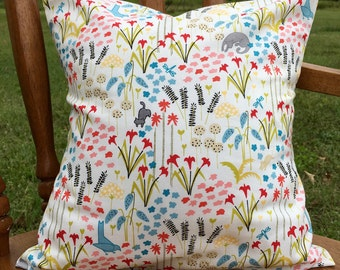 Country garden nursery pillow