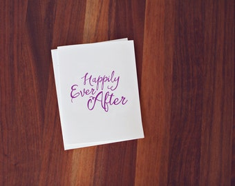 Happily Ever After A2 Letterpress Card
