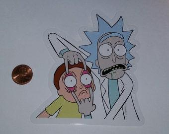 Custom Rick and Morty vinyl sticker