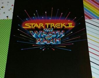 Vintage 1982 Star Trek II The Wrath of Khan Movie Program