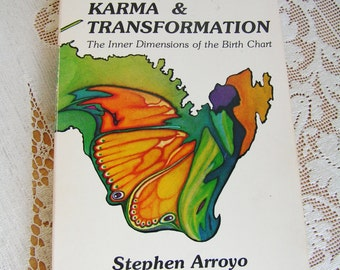 Vintage Astrology Karma & Transformation Book the Inner Dimensions of the Birth Chart by Stephen Arroyo 1978
