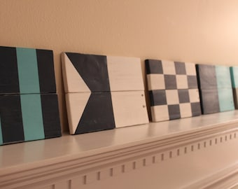 Nautical Signal Flags - Wood Nautical Signal Flags - Non Traditional Colors